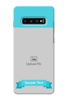 Samsung Galaxy S10 Plus Personalized Mobile Covers: Simple Blue Color Design