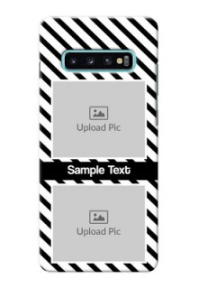 Samsung Galaxy S10 Plus Back Covers: Black And White Stripes Design