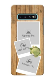 Samsung Galaxy S10 Plus Custom Mobile Phone Covers: Wooden Texture Design