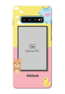 Samsung Galaxy S10 Plus Back Covers: Kids 2 Color Design