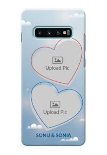 Samsung Galaxy S10 Plus Phone Cases: Blue Color Couple Design