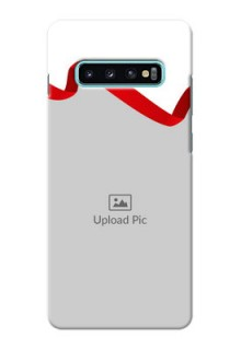 Samsung Galaxy S10 Plus custom phone cases: Red Ribbon Frame Design
