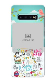 Samsung Galaxy S10 Plus phone cases online: Doodle love Design