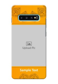 Samsung Galaxy S10 Plus custom mobile back covers: Photo Wedding Design