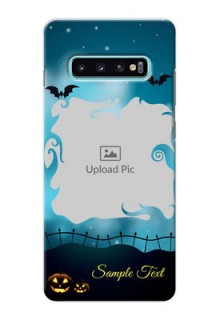 Samsung Galaxy S10 Plus Personalised Phone Cases: Halloween frame design