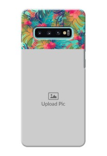 Samsung Galaxy S10 Plus Personalized Phone Cases: Watercolor Floral Design
