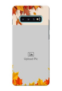 Samsung Galaxy S10 Plus Mobile Phone Cases: Autumn Maple Leaves Design