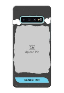 Samsung Galaxy S10 Plus Mobile Back Covers: splashes with love doodles Design
