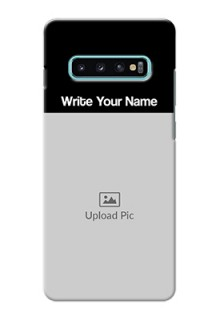 Galaxy S10 Plus Photo with Name on Phone Case