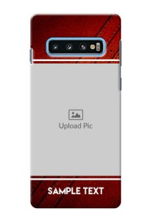 Samsung Galaxy S10 Back Covers: Leather Phone Case Design