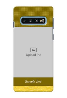 Samsung Galaxy S10 custom mobile back covers: Simple Green Color Design
