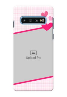 Samsung Galaxy S10 Personalised Phone Cases: Love Shape Heart Design