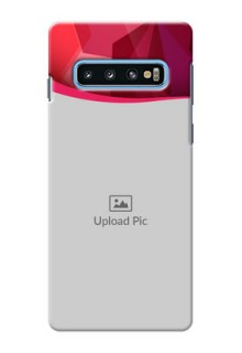 Samsung Galaxy S10 custom mobile back covers: Red Abstract Design