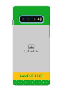 Samsung Galaxy S10 Personalised mobile covers: Green Pattern Design