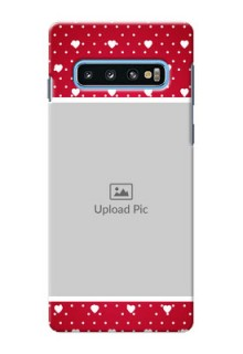 Samsung Galaxy S10 custom back covers: Hearts Mobile Case Design