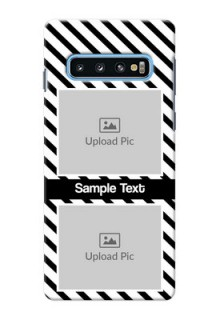Samsung Galaxy S10 Back Covers: Black And White Stripes Design