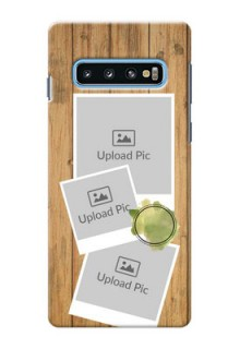 Samsung Galaxy S10 Custom Mobile Phone Covers: Wooden Texture Design