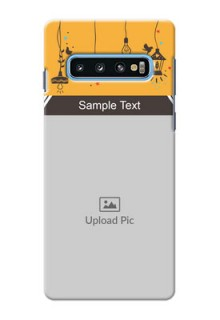Samsung Galaxy S10 custom back covers with Family Picture and Icons