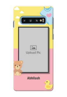 Samsung Galaxy S10 Back Covers: Kids 2 Color Design