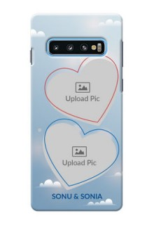 Samsung Galaxy S10 Phone Cases: Blue Color Couple Design