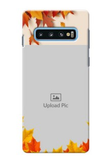 Samsung Galaxy S10 Mobile Phone Cases: Autumn Maple Leaves Design