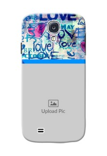 Samsung Galaxy S4 Colourful Love Patterns Mobile Case Design