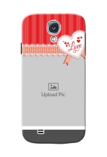 Samsung Galaxy S4 Red Pattern Mobile Cover Design