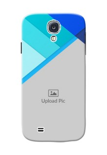 Samsung Galaxy S4 Blue Abstract Mobile Cover Design