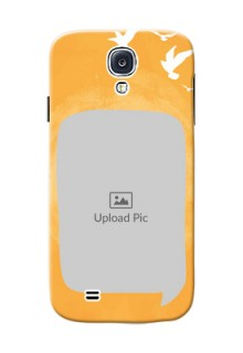 Samsung Galaxy S4 watercolour design with bird icons and sample text Design Design