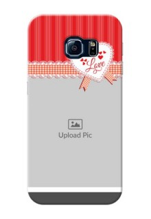 Samsung Galaxy S6 Edge Red Pattern Mobile Cover Design