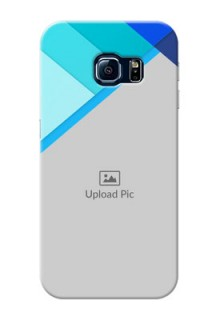 Samsung Galaxy S6 Edge Blue Abstract Mobile Cover Design