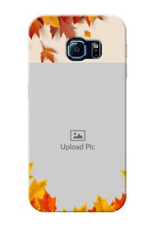 Samsung Galaxy S6 Edge autumn maple leaves backdrop Design