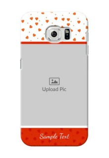 Samsung Galaxy S6 Orange Love Symbol Mobile Cover Design