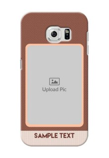 Samsung Galaxy S6 Simple Photo Upload Mobile Cover Design