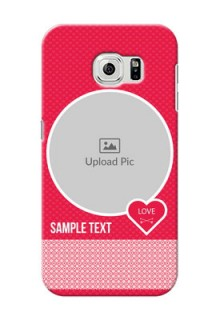 Samsung Galaxy S6 Pink Design Pattern Mobile Case Design