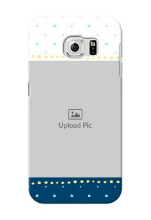 Samsung Galaxy S6 White And Blue Abstract Mobile Case Design