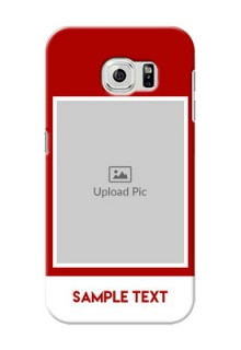 Samsung Galaxy S6 Simple Red Colour Mobile Cover  Design