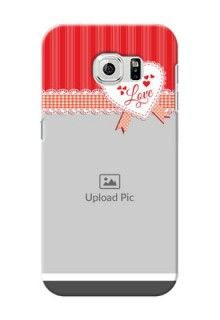 Samsung Galaxy S6 Red Pattern Mobile Cover Design