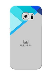 Samsung Galaxy S6 Blue Abstract Mobile Cover Design