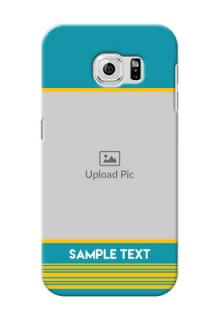 Samsung Galaxy S6 Yellow And Blue Pattern Mobile Case Design