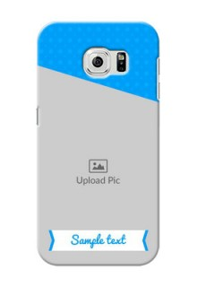 Samsung Galaxy S6 Premium Blue Colour Mobile Back Case Design