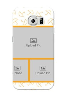 Samsung Galaxy S6 Yellow Pattern Mobile Back Cover Design