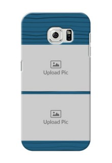 Samsung Galaxy S6 Blue Pattern Mobile Case Design