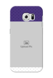 Samsung Galaxy S6 Violet Pattern Mobile Cover Design