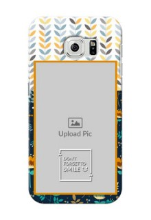 Samsung Galaxy S6 seamless and floral pattern design with smile quote Design Design