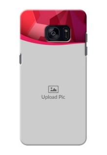 Samsung Galaxy S7 Edge Red Abstract Mobile Case Design