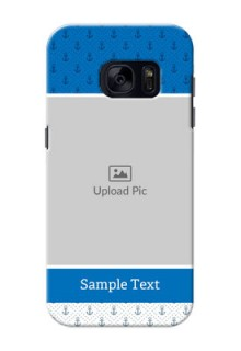 Samsung Galaxy S7 Blue Anchors Mobile Case Design