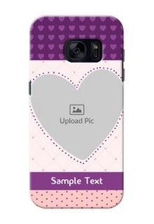 Samsung Galaxy S7 Violet Dots Love Shape Mobile Cover Design