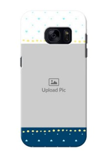 Samsung Galaxy S7 White And Blue Abstract Mobile Case Design