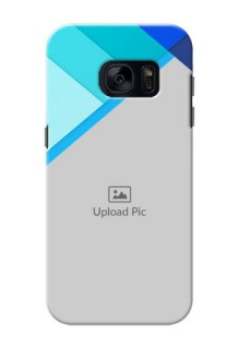 Samsung Galaxy S7 Blue Abstract Mobile Cover Design